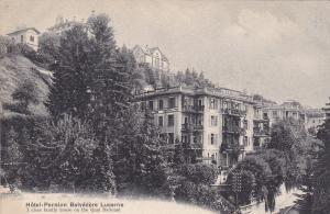 LUZERN, Switzerland, 1900-1910´s; Hotel Pension Belvedere Lucerne