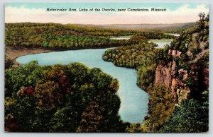 Camdenton MO~Rock Formations Along Bluffs~Lake of the Ozarks~Hahatonka Arm~1940s