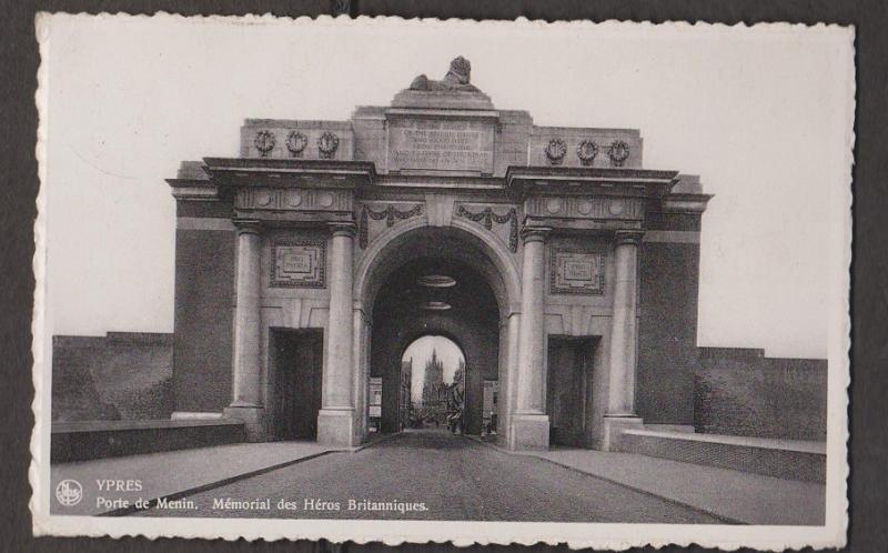 Menin Gate Memorial To British Heros, Ypres, Belgium - Real Photo - Used 1937