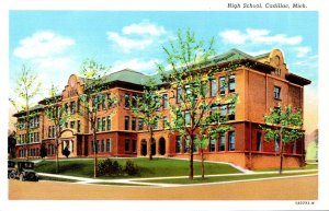 Michigan Cadillac High School Curteich