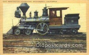 Huntington Locomotive, Sacramento, California, CA USA Trains, Railroads Postc...