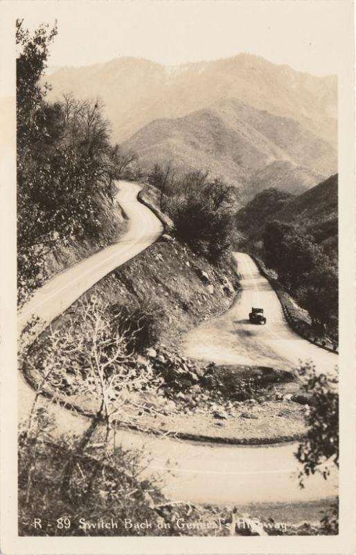 RPPC Pickup Truck on Generals Highway to Sequoia National Park CA, California