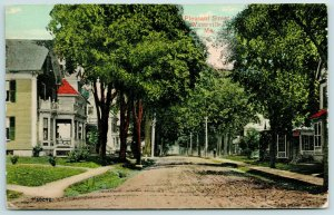 Waterville ME~Pleasant Street Really Is~Paved Sidewalks, Dirt Rd~Homes w/Porches