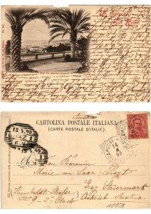 CPA Un Saluto da SAN REMO Fra le Palme ITALY (532327)