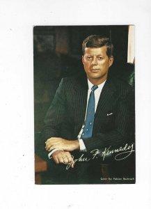 Vtg 1960's John F. Kennedy Political Portrait Postcard