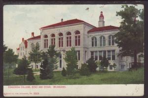 Concordia College,Milwaukee,WI Postcard