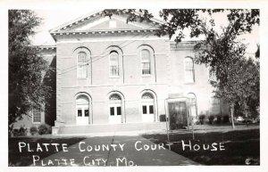 LPSS09 Platte City Missouri Platte County Court House Postcard RPPC