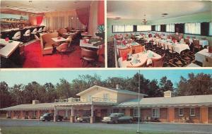 Victor New York~Exit 45 Motel And Restaurant~Inside Out~Nice 1950s Cars