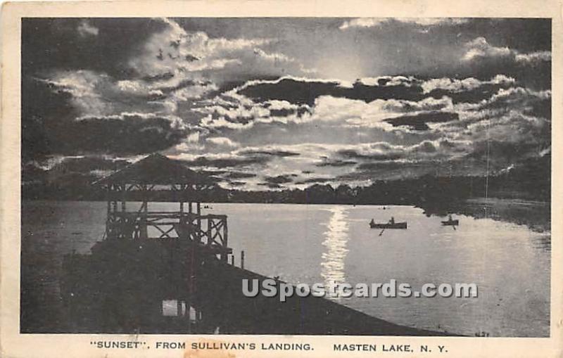 Sunset from Sullivan's Landing Wurtsboro NY 1923