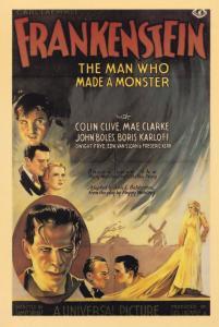 Frankenstein John Boles Boris Karloff Movie Cinema Poster Postcard