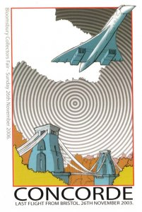 Concorde Plane Last Flight From Bristol Limited Edition Postcard