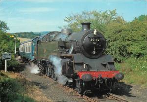 Trains Railway Railroad topic postcard B. R. Standard Tank North York Moors