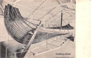 Norway Old Vintage Antique Post Card Oseberg Skibet Pleasure Yacht Unused
