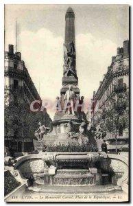 Old Postcard Lyon Carnot Monument Place de la Republique