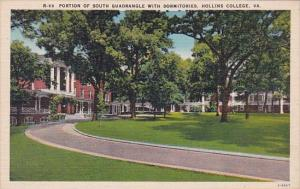 Virginia Hollins College Portion Of South Quadrangle With Dormitories