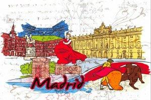 Fine Art Quality Postcard, Madrid, Spain, Landmarks, City, View, Travel 79H