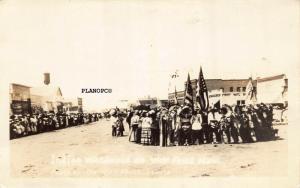 WOLFPOINT, MONTANA INDIAN WAR DANCE-1917  RPPC REAL PHOTO POSTCARD