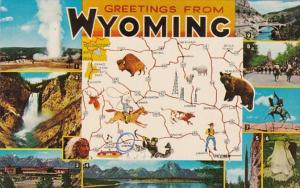 Greetings From Wyoming With Map
