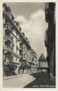 Luzern Switzerland Hotel Bernerhof photo postcard Suisse