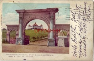 pre-1907 THEOSOPHICAL INSTITUTE, POINT LOMA, CA. Mrs K Tingley, Founder 1905