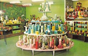 Ozark Missouri Candle Corner Treasures Interior Vintage Postcard K62603