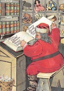 Modern Card Santa Claus 1990
