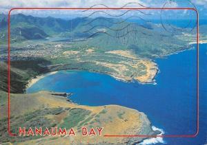 USA Aerial view Hamauma Bay Hawaii Kai