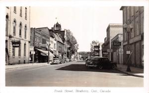 E27/ Strathroy Canada Ontario Real Photo RPPC Postcard c1940s Frank Street Store