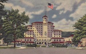The Broadmoor Hotel And Its Surrounding Wings At The Foot Of Cheyenne Mountai...