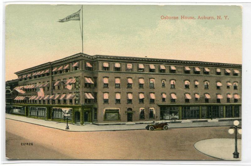 Osborne House Hotel Auburn New York 1910c postcard