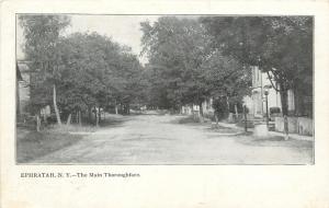 Ephratah New York~Main Thoroughfare~Homes~Dirt Road~1908 Postcard