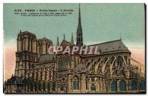 Postcard Old Paris Notre Dame The Apse