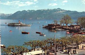 B94901 lausanne ouchy le port et les alpes de savoie ship bateaux  switzerland