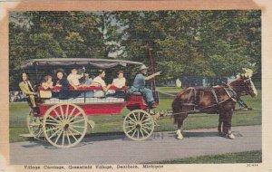Michigan Dearborn Village Carriage Greenfield Village 1958