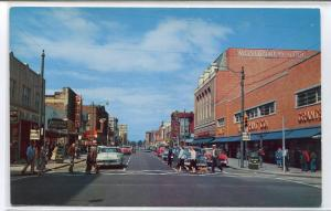 Washington Avenue Street Scene Cars Newport News Virginia postcard