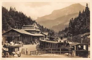 Brunig Pass Switzerland Gable Train Station Real Photo Antique Postcard K85910