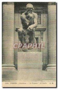 Old Postcard Paris Pantheon The Pemseur Rodin