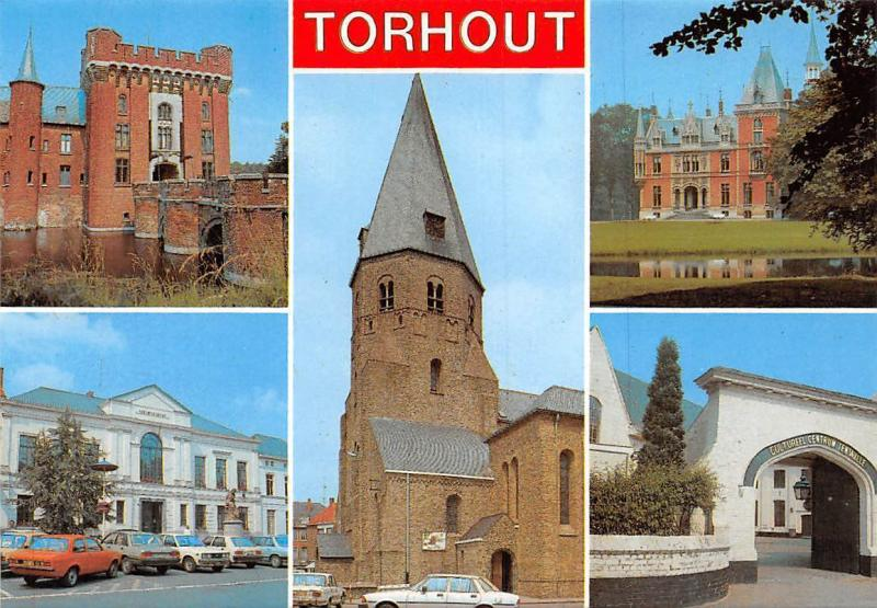 Belgium Groeten uit Torhout, Chateau Castle Bridge Church Eglise Gate Centrum