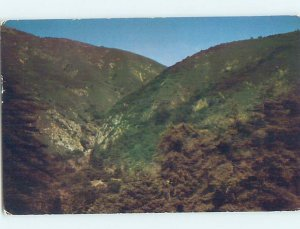 Pre-1980 NATURE SCENE Big Sur - Near Carmel California CA AD3097