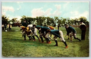 Sports~Football~Down~Set~Hut!!! Team on the Line~Coaches~IPCC #185-3~1908 PC