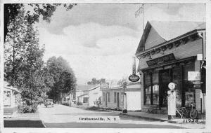 Grahamsville NY General Store Gas Station Pump Bicycle Postcard