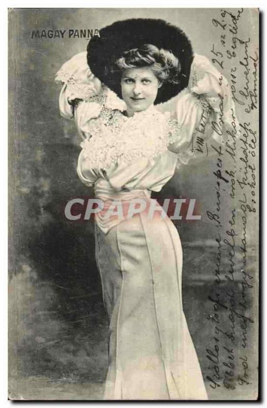 Fantaisie - Femme - Sassy Woman with draping dress (carte hongroise Hungary Hong