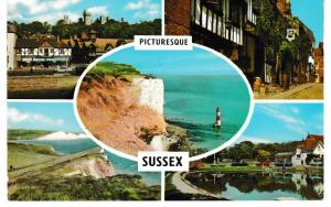 Post Card Sussex Picturesque Sussex 5 views PLC3265