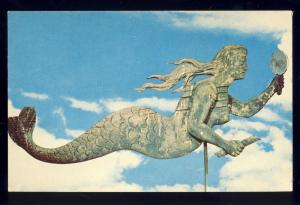 Shelburne Museum,Vermont/VT Postcard, Mermaid Weathervane