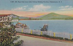 New York Chestertown Mt Kipp From Loon Lake Colony Bathing Pavilion Curteich