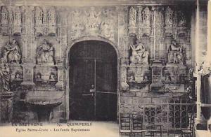 Eglise Sainte-Croix, Les Fonds Baptismaux, Quimperle (Finistere), France, 190...
