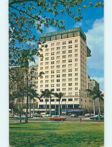 Unused Pre-1980 OLD CARS & COLUMBUS HOTEL Miami Florida FL Q5766-12