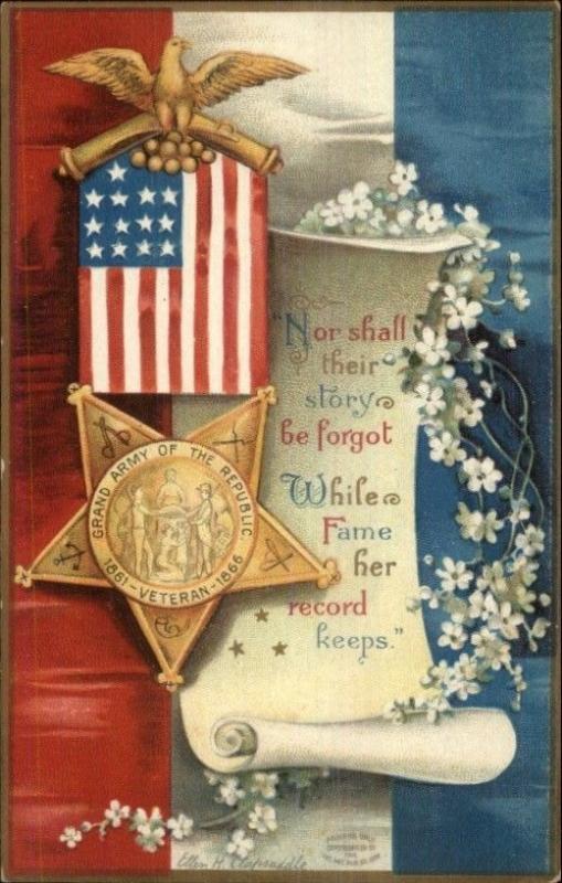 Ellen Clapsaddle Patriotic - Civil War GAR Medal American
