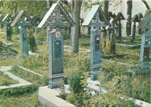 Post card Sapanta ethnic type folklore Cimitirul Vesel