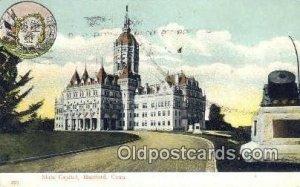 Hartford, Connecticut, CT State Capital USA 1909 minor corner wear, postal ma...